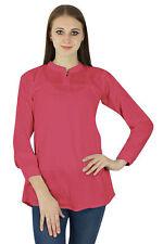 Pink Cotton Sundress Top TunicWear Clothing Dress Summer Women Boho Casual