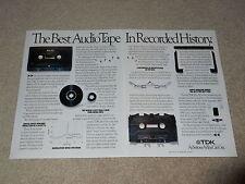 "TDK MA-XG Advertisement, 1991, 18""x11"", 2 pg, Articles, RARE INFO! Beautiful!"