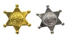 Stella da sceriffo in plastica stelletta color oro o argento