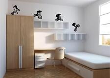 4 X Bmx Riders-Wall Art Decalcomania Sticker