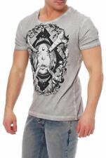 Disturbia Herren T-Shirt Kurzarmshirtb Shirt Bone-Idol
