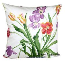 Sanderson Painters Garden Violet & Crimson Floral Cushion Cover