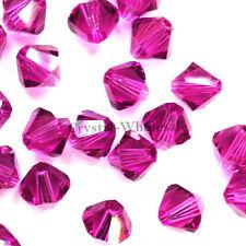 6mm Fuchsia (502) Genuine Swarovski crystal 5328 / 5301 Loose Bicone Beads