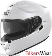 Shoei GT AIR Plain White Full Face Motorcycle/Motorbike touring Helmet QW