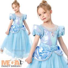 DISNEY Premium CENERENTOLA Ragazze FANCY DRESS PRINCESS KIDS BAMBINO Deluxe Costume