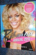 RIHANNA ANNUAL 2013 BOOK BY POSY EDWARDS + RIHANNA LARGE BEDROOM POSTER CALENDAR