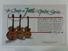 retro magazine advert 1982 TAKAMINE jazz guitars