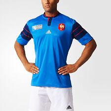 100% Officiel Adidas homme France coupe du monde de rugby 2015 Home Jersey, Taille: XL