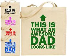 Sorprendente Papá Arrow Grande Cotton Tote Bolso Compra Lona Día Del Padre