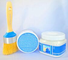 Chalk Paint Kit Pint paint (44 colors) 6 oz clear wax, (1) Boar Bristle Brush
