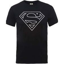 Camiseta negra para hombre de los COMICS de DC Camiseta apenada para hombre Supe
