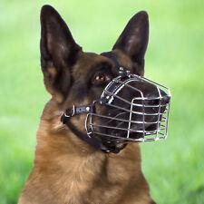 German Shepherd Dog Muzzle Metal Basket X Large Adjustable Leather Strap