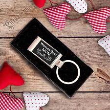 Mothers Day Worlds Best MUM NAN GRANDMA Engraved Keyring Gift Present Gift Boxed