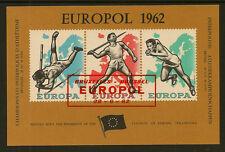 Exposición Hoja:1962 europol-interpolice Athletic campeonatos, Bruselas Usado
