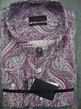 LIZARD KING MOD Paisley Camicia a maniche lunghe 2XL 3XL 4XL 5XL 6XL 7XL 8XL