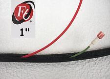 "1"" Flexo F6 Braided Cable Sleeving Wrap, Split Loom, Techflex F6N1.00BK"