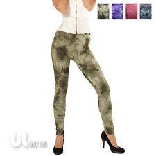 Leggings Batik Baumwolle Leggings Damen Vintage Leggings Retro Optik Treggings