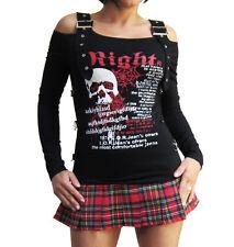 Cooles Fetziges Punky PARTY Shirt Totenkopf S-M-L-XL Schulterfrei gothic