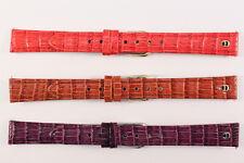 Original AIGNER Uhrenarmband Ersatzband 14mm Kalbsleder mit Alligator-Narbung