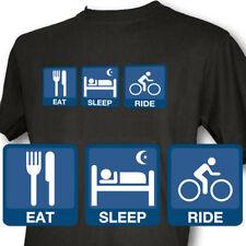 Eat Sleep Ride Mens Black T-Shirt Cycle mountain bike