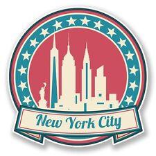 2 x New York America USA Vinyl Sticker Laptop Travel Luggage Car #6736
