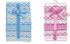 Regent Baby 4 Piece Cotton Receiving Blanket, Swaddle Boy ,Girl Baby Shower Gift