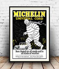 Neumático de coche Vintage Michelin: publicidad, Pared Arte, cartel, reproducción.