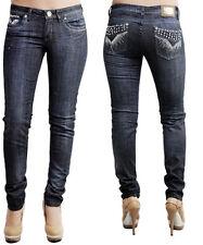 Women Quality Skinny Jeans w/Rhinestones 59 Dark Size 7 8 9 11 NEW