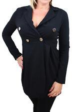Diamond veste robe femme noir 100% made in Italy casual Boutonné