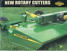 John Deere MX HX Rotary Cutters Sales Brochure 99-09