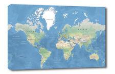 World Map  Wall Art -CANVAS Print ready to hang 002