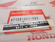 Honda XR 75 TL 125  Monkey Aufkleber Rahmen Neu Plate Name Honda 87125-041-680