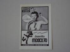 advertising Pubblicità 1970 JUANITO MEXICO BARAVELLI