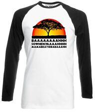 Lion Chant Long Sleeve Baseball T-Shirt Funny joke king savannah Africa big cat