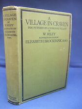 A Village in Craven - Yorkshire Pennines - Colour Plates 1925 HB