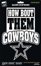 Dallas Cowboys Star NFL Football How 'Bout Them Boys Vinyl Decal Car Window