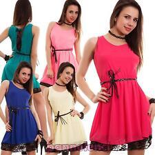 Miniabito donna abito vestito vestitino velato pizzo fiocco nuovo AS-8817
