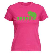 Comma Chameleon Ladies T-SHIRT Joke Grammar 80S Pun Geek Funny Gift birthday