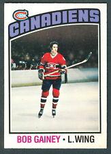 1976-77 OPC O PEE CHEE  44 BOB GAINEY  NM MONTREAL CANADIENS HOCKEY CARD
