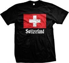 Schweiz Schweizer Flagge Swiss Stolz Stolz Suisse Svizzera Herren T-Shirt