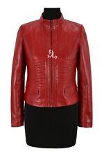 VICTORIA Ladies Jacket Red Casual Cool Flight Coat Genuine Leather Jacket