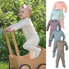 ENGEL Baby Schlafoverall Wolle Seide kbT, Öko Schlafanzug Bio Body Overall