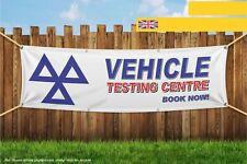 Centro di prova dei veicoli MOT Garage LIBRO ora Heavy Duty PVC BANNER SIGN 4247
