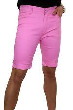 NUOVO (1513-7) Jeans stretch Pantaloncini Chino Stile Diamante Bracciale Rosa 10-20