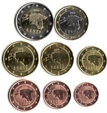 EU EUR EST COIN Set of 8 Euro Coins Estonia Coin 2011 VGC some UNC Uncirculated