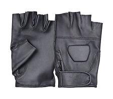 Unisex hombres señoras Sin Dedos cuero guantes de conducción De Motor Moto Chofer Cojín De Gel