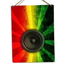 WTF | Rasta Speaker | Metal Wall Sign Plaque Art | Sound System Reggae Marley