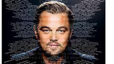 "Leonardo DiCaprio películas homenaje Grande 35""x25"" mosaico cartel o 1 A4 impresión"