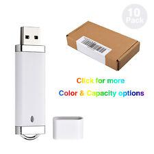 10x 1-8GB USB 2.0 Lighter Pen Drive Thumb Drive Memory Stick U Disk White/Silver