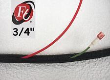 "3/4"" Flexo F6 Braided Cable Sleeving Wrap, Split Loom, Techflex F6N0.75BK"